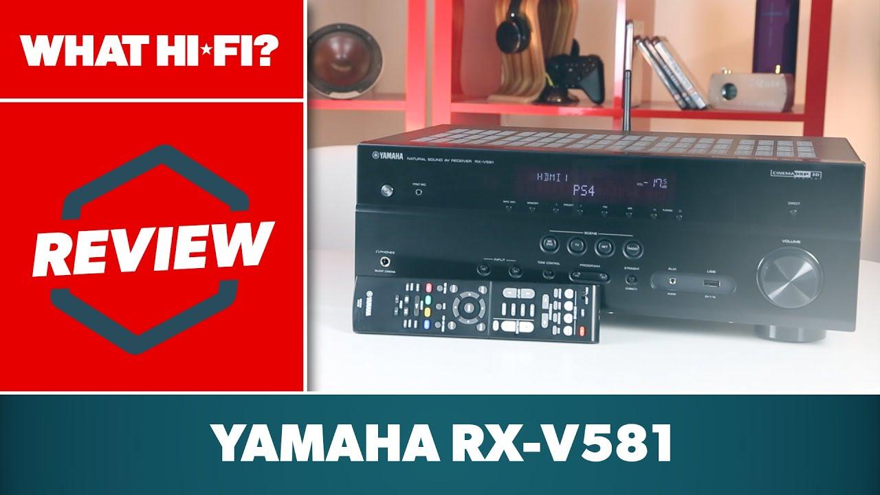 yamaha rx-v581 av receiver review - youtube