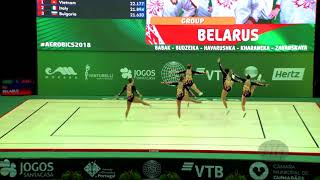 Belarus (BLR) - 2018 Aerobic Worlds, Guimaraes (POR) - Group Qualifications