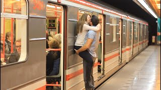 Kissing Prank - Kissing Girls at Czech SUBWAY!! (GONE HOME)
