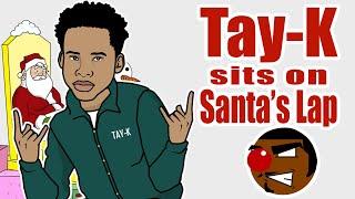 Tay-K Sits on Santa's Lap