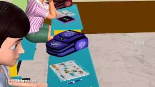 Learn Classroom Objects and School Playground - 3D Animation Preschool rhymes for children