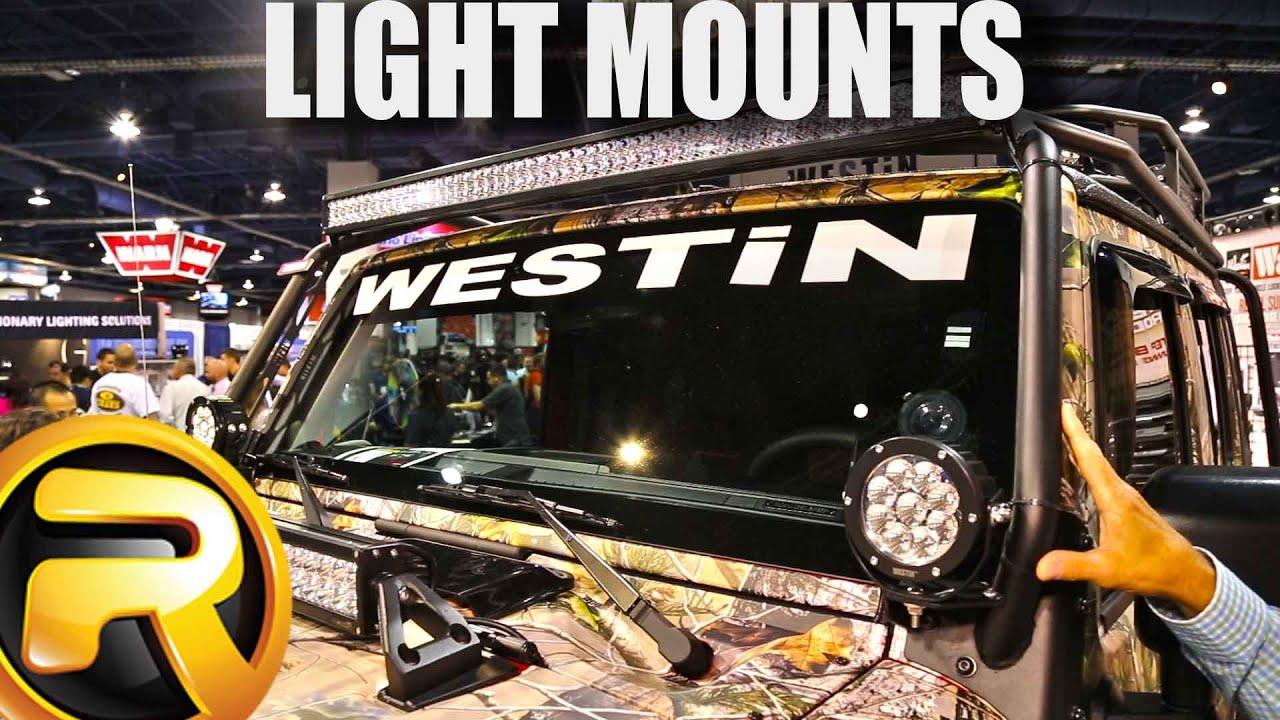 Westin Led Light Mounts Youtube Jeep Wrangler