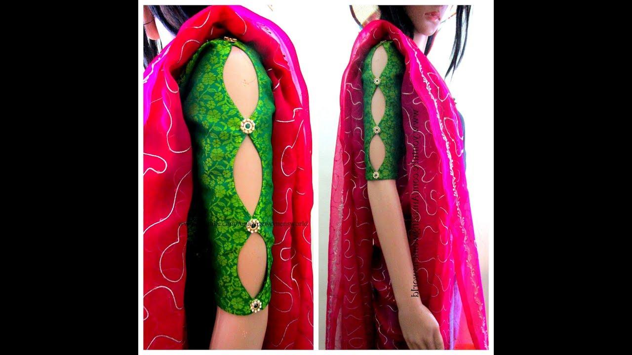 Image result for Designer Sleeves For blouse/ churiar Kurti