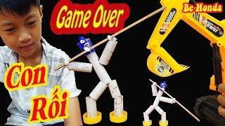 Máy xúc - Làm Con Rối chơi trận Đại Chiến Donkihote và Máy Xúc | Make A Puppet