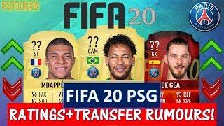 FIFA 20   PARIS SAINT-GERMAIN PLAYER RATINGS!! FT. NEYMAR, MBAPPE, DE GEA ETC... (TRANSFER RUMOURS)