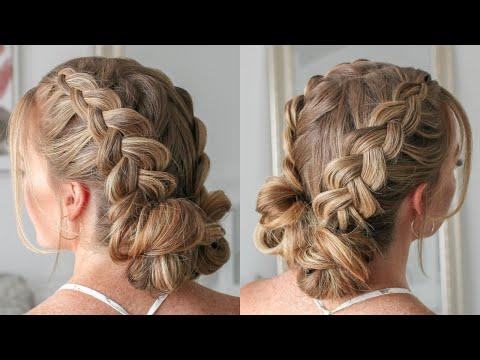 Double Dutch Braid Mini Buns | Missy Sue