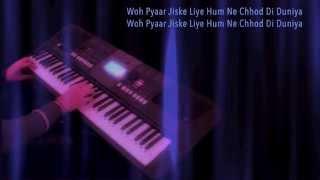 kisi nazar ko tera intzaar aaj bhi hai-on keyboard