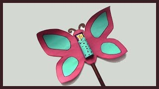 DIY PAPER CRAFTS | Easy Simple Paper Butterfly | Kids Gift Ideas