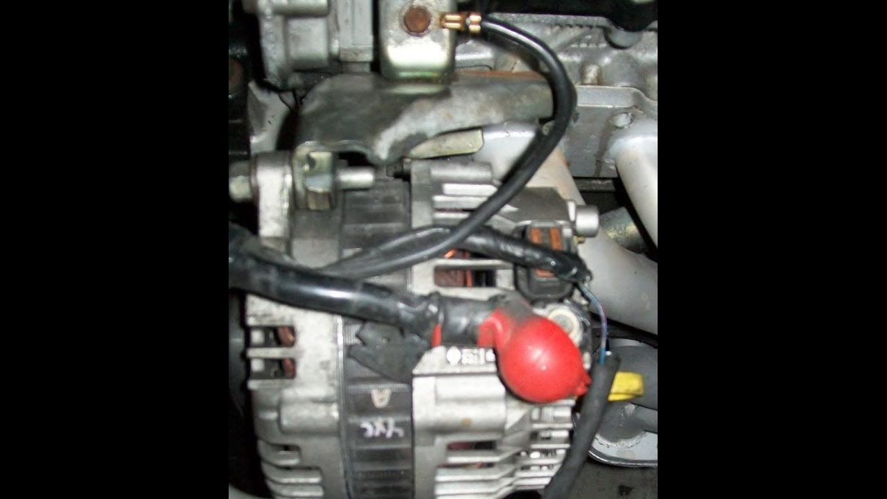 Nissan Sentra 0206 Alternator removal BEST Way  YouTube