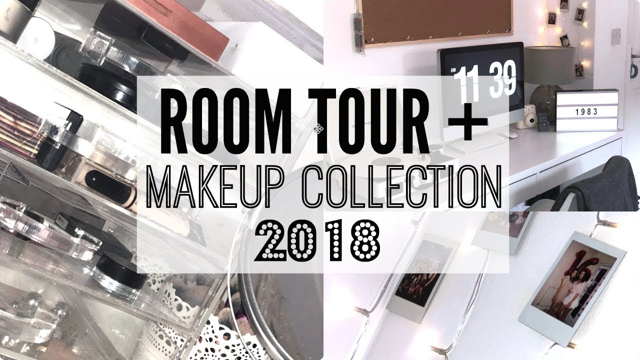 tumblr room tour makeup collection 2018 darcy morgan youtube. Black Bedroom Furniture Sets. Home Design Ideas