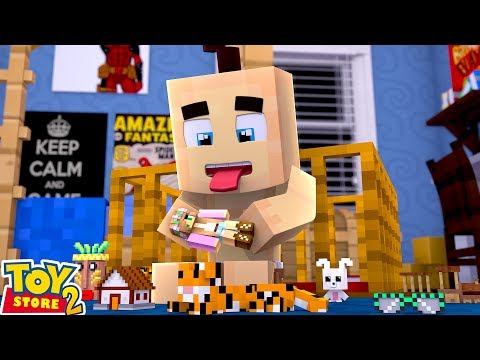 A BABY EATS LITTLE KELLY DOLL!  Minecraft Toystore