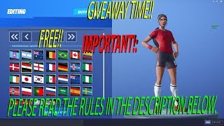 🔴Fortnite Live - NEW GIFTING SYSTEM - SOCCER SKIN GIVEAWAY!!! - NEW SUBS SUBS!! READ DESCRIPTION!