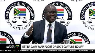 Estina dairy farm project takes centre stage, again, at the State Capture inquiry