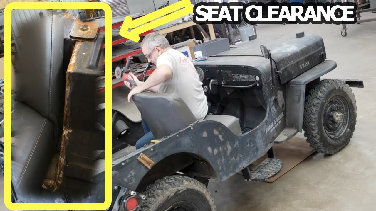 hight resolution of 1959 willys jeep cj3 seat clearance mod part 1