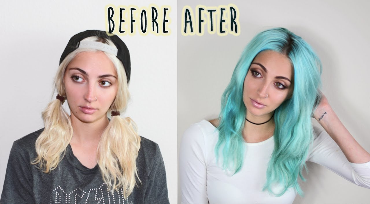 Blonde To Pastel Blue Transformation ∆ Brittany Balyn