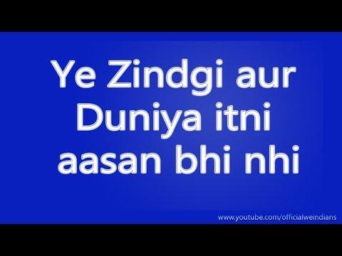 Ye Zindgi aur Duniya Itni Aasan Nahi - Emotional video in Hindi Audio