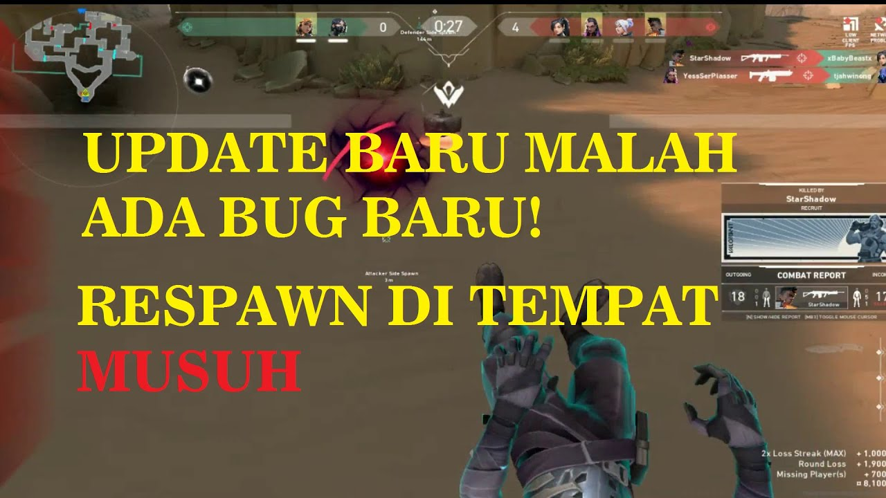 Bug Valorant - RESPAWN di Tempat MUSUH! Spawning Inside Enemy Area (Baru aja Update, DUH!)