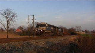 Trains Through the Pennsylvania Countryside on a Beautiful November Sunday
