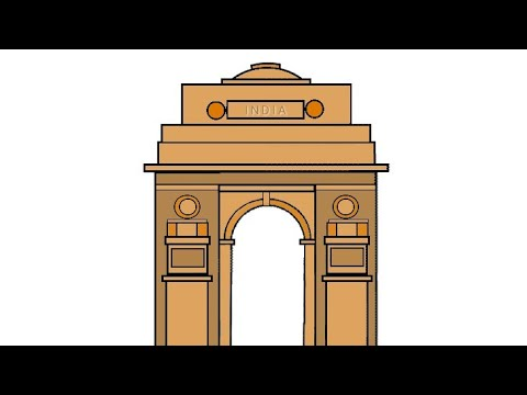 Pictures of india gate drawings
