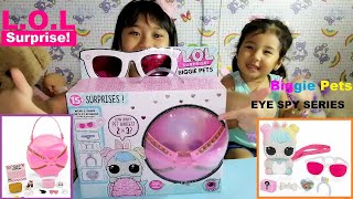 Unboxing LOL Surprise Biggie Pets | Eye Spy Series