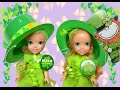 Anna and Elsa Toddlers St Patricks Day Adventure # 1 Pinching Leprechaun Traps  Toys In Action
