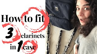 How to fit 3 clarinets in one case