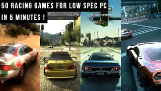 50 Best Car Ra¢ing Games for Low Spec PC in 5 Minutes!