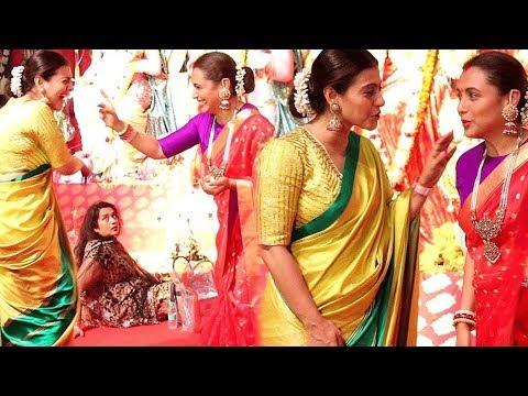 Kajol & Rani Mukherjee End FIGHT & HUG Each Other Like Sisters At Durga Puja Festival 2019