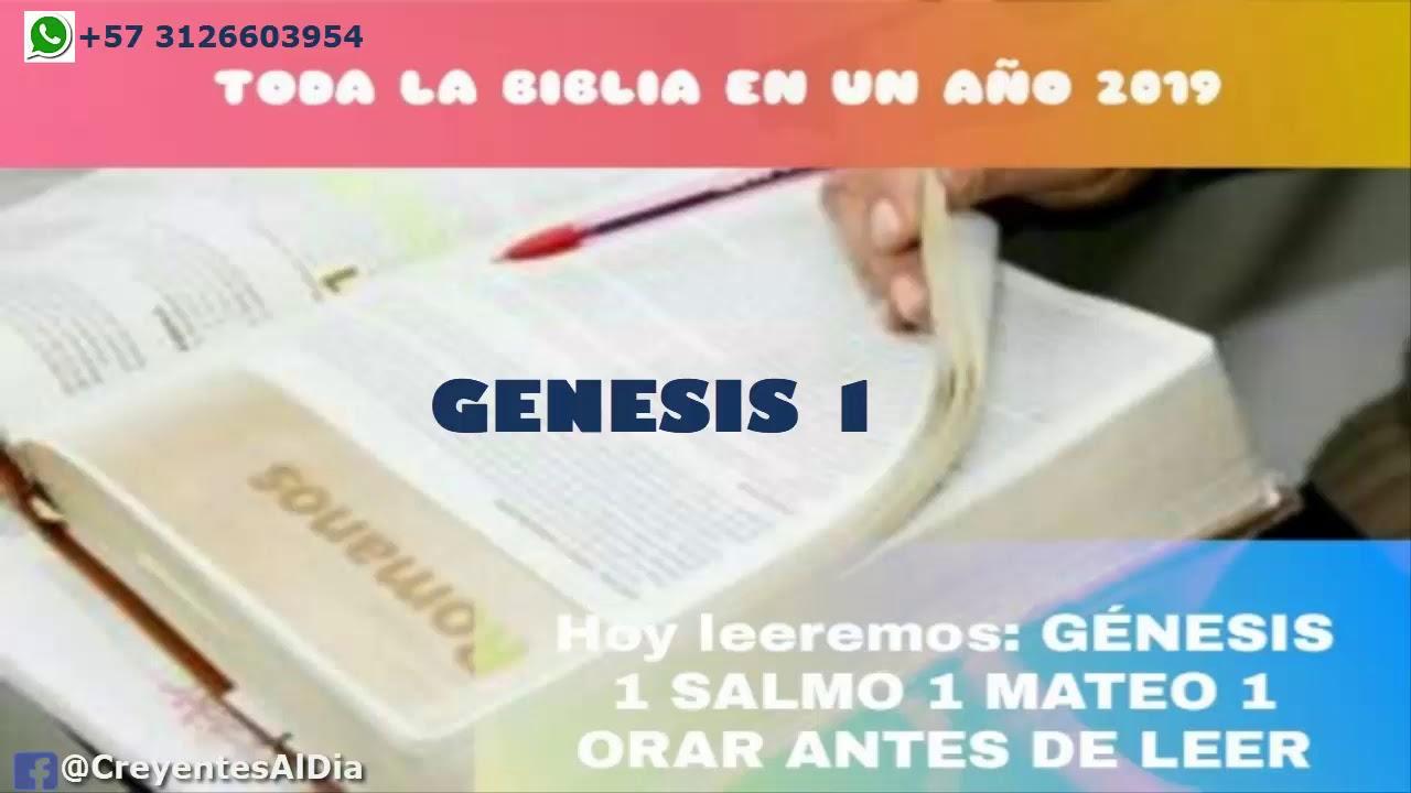 Download ESTUDIO DE LA BIBLIA EN UN AÑO DÍA 1 Gn 1, Sal 1y Mt 1