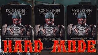 Mortal Kombat X (iOS/Android) RONIN KENSHI CHALLENGE HARD MODE