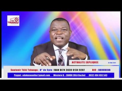 Actualité Expliquée 02.05.17 : N'ayant pas été nommé, MUBAKE renonce au gouvernement Tshibala