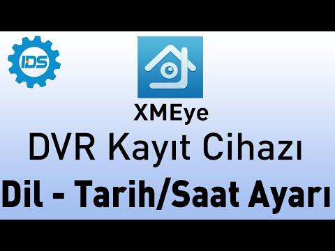 DVR Kayıt Cihazı Dil ve Tarih Saat Ayarları - XMEYE