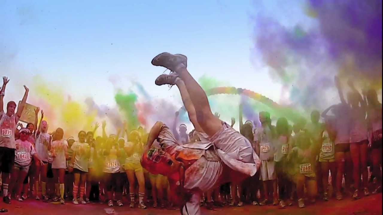 the color run be a color runner youtube