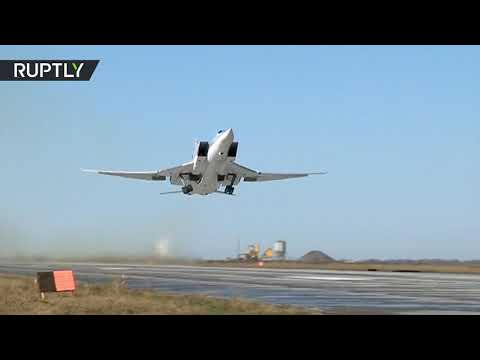 Russian strategic bombers Tu-22M3 strike ISIS strongholds in Deir ez-Zor