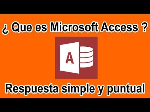 Que es Access? para que sirve?
