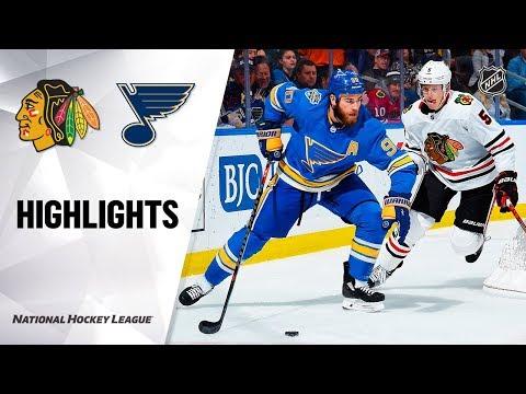 NHL Highlights   Blackhawks @ Blues 12/14/19