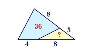 Найдите площадь треугольника на рисунке, если площадь четырёхугольника равна 36 ★ Как решать?