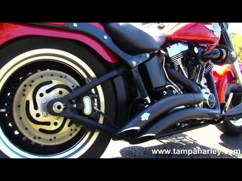 Used 2013 Harley-Davidson FLSTFB Fat Boy Lo with Vance & Hines Exhaust