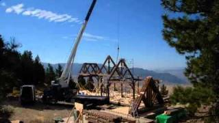 RAISING TIMBER FRAME HOME - POST AND BEAM - TIMBER TRUSS