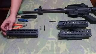 T91步槍新版keymod及M-lok戰術護手安裝方式