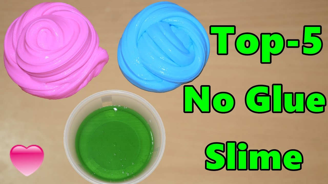 Top 5 Ways Slime Without Glue 💦 How To Make Slime Without Glue  | How To Make Slime | No Glue Slime