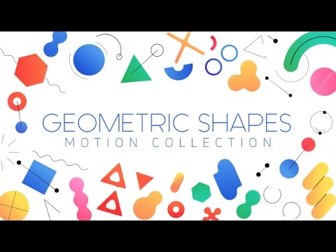 geometric shapes motion collection after effects template