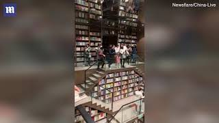 Incredible Chinese book shop opens in mountain city