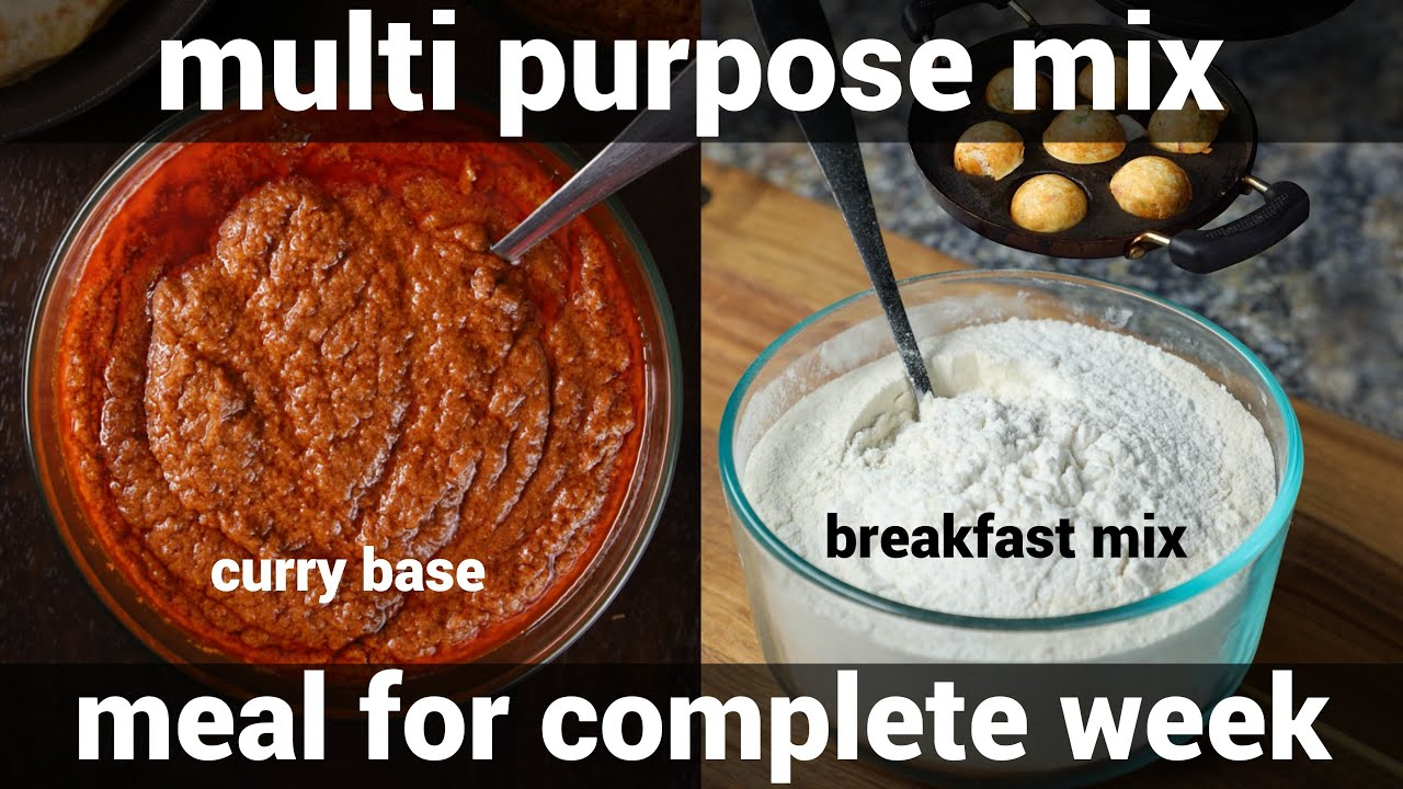 2 must try indian multi purpose bachelor recipes - multipurpose curry base & instant breakfast mix