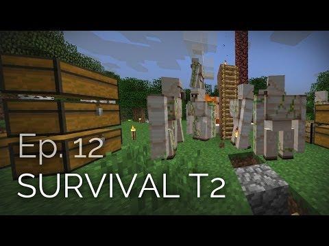 Minecraft Survival T2 Ep. 12 - Granja de Hierro terminada = 1700 Lingotes por hora [Iron Foundry]