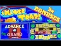 Mouse Trap! ✦ SLOT MACHINE Live Play ✦ with 3 Bonuses