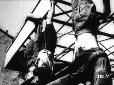 Remise du corps de Mussolini sa famille