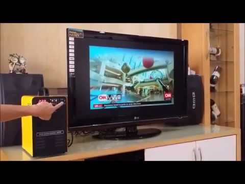 Solar Power Generator power up a 42 Inch LED TV