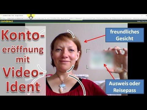 Kontoeröffnung mit VideoIdent ► Comdirect