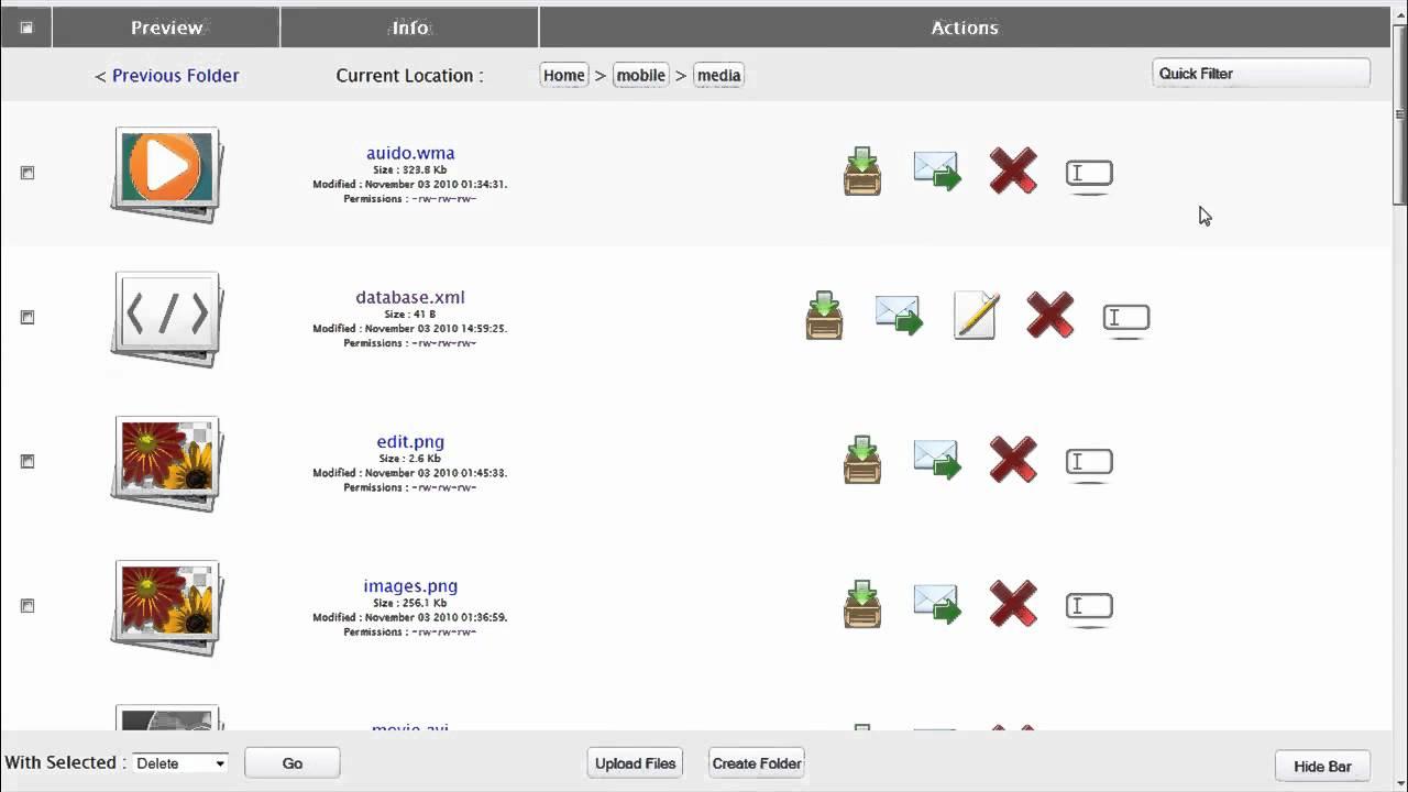 FileListPro PHP File Manager Demo